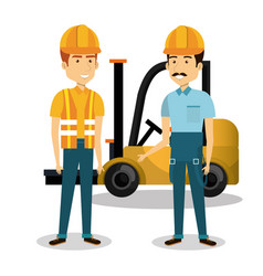 Professional construction people characters vector