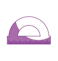 Compass ruler isolated vector