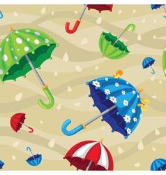seamless rainbow umbrellas vector image