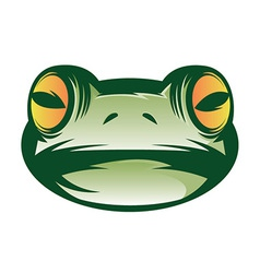 Frog face vector