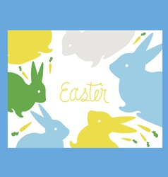 Easter card with rabbits vector image