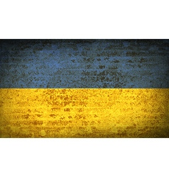 Flags ukraine with dirty paper texture vector