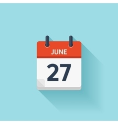 June 27  flat daily calendar icon date vector