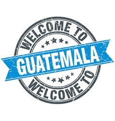 Welcome to guatemala blue round vintage stamp vector