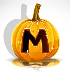 Halloween pumpkin m vector