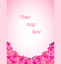 Beautiful template with roses for cards vector