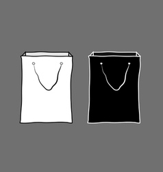 Black and white shopping bags vector image vector image