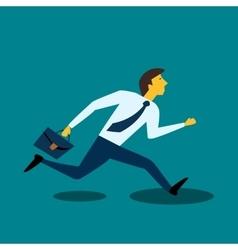 Businessman manager runs vector