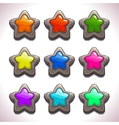 Cartoon stone stars vector