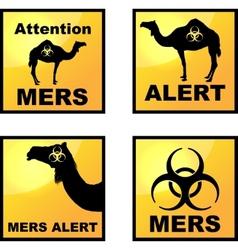 Coronavirus alert icons tags vector image