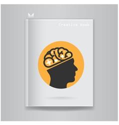 Creative book cover vector