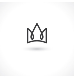 crown king vector image vector image
