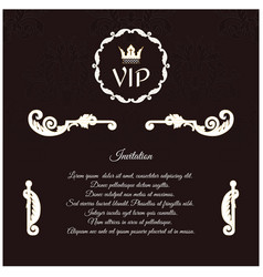 Elegant invitation for vip with a circular vector