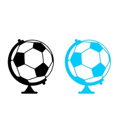 Football ball globe world game sports accessory as vector
