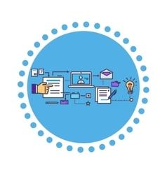 Icon Flat Style Design Search Idea vector image vector image