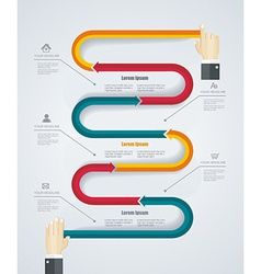 Infographic with Human Hands- concept desig vector image