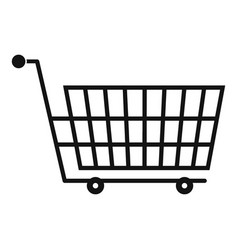 Large empty supermarket cart icon simple style vector