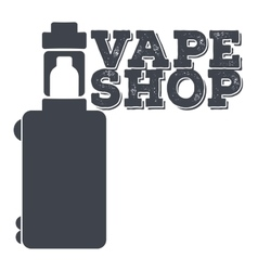 Monochrome logo of an electronic cigarette vector image