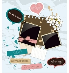 Pastel scrapbooking elements set vector image