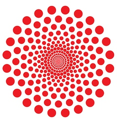 Red dot spiral vector image