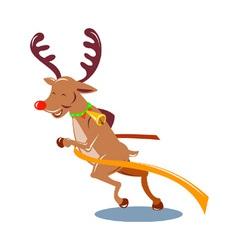 Reindeer running vector