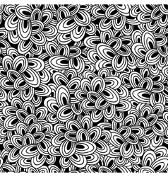 Seamless pattern of doodle clouds Endless stylish vector image vector image