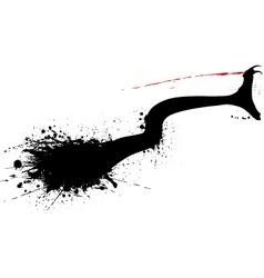Snake bite vector image vector image