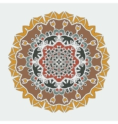 Stylized mandala art ornamental round lace vector