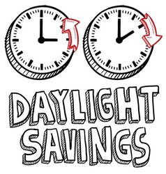 Doodle holiday daylight savings vector