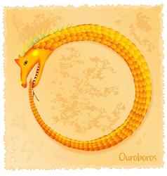 Ouroboros vector image