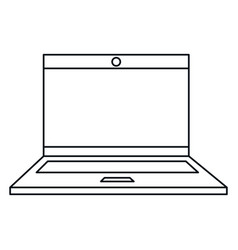 Computer laptop isolated icon vector