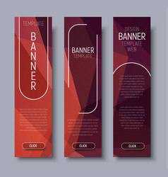 Template vertical web banners with abstract brown vector