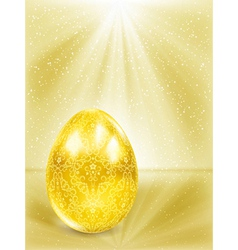 Golden egg in the rays vector