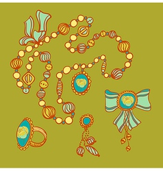 Colourful beads vector
