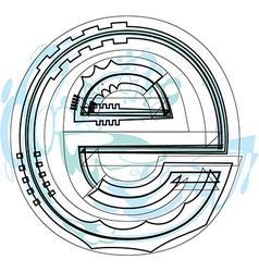 Font letter e vector image