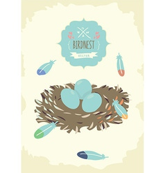 Bird nest design vector