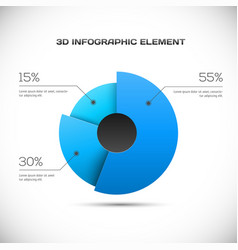 3d infographic design vector