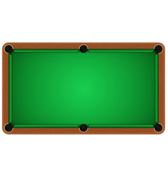 Empty billiard table on a white background vector image