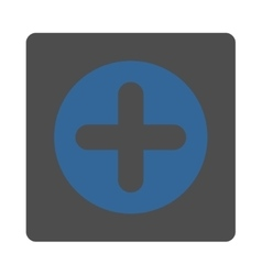 Create flat cobalt and gray colors rounded button vector