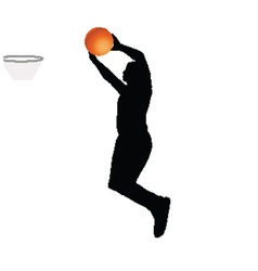 Basketball player vector