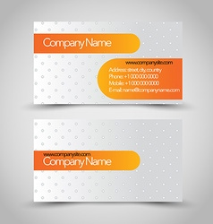 Business card set template orange and silver grey vector