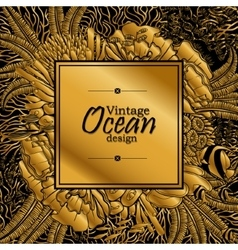 Ocean line art design vector