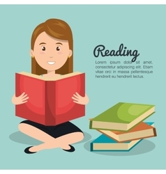 Person reading design vector