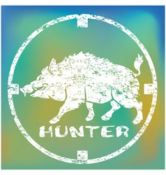 boar hunting vector image vector image
