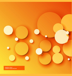Bright orange 3d circles background vector