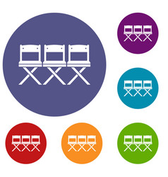 Chairs icons set vector