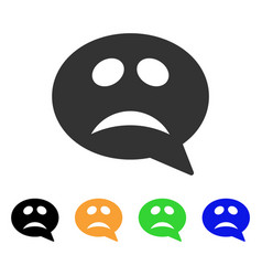Crisis smiley message icon vector
