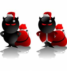 devil toy Christmas vector image vector image