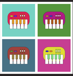 flat icon design collection children musical vector image