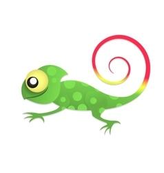 Fun chameleon baby vector image vector image